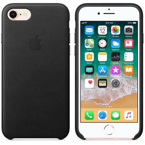 Apple iPhone 8 / 7 Leather Case - Black MQH92ZM/A