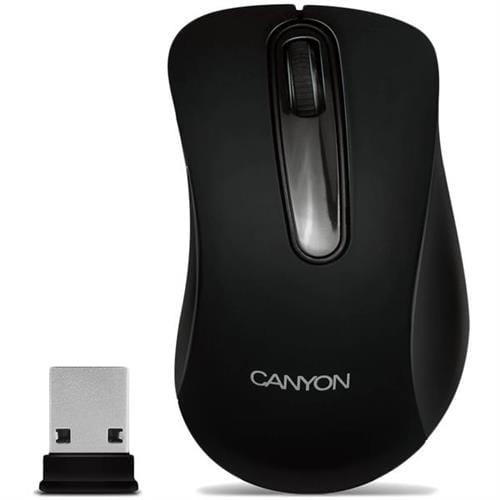Myš Canyon CNE-CMSW2, Wireless optická, USB, 800 dpi, 3 tlač, čierna