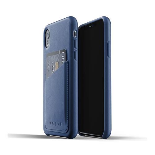 MUJJO Full Leather Wallet Case for iPhone XR – Monaco Blue MUJJO-CS-104-BL