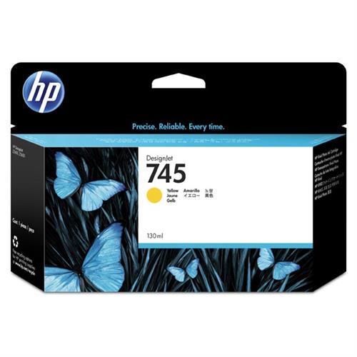HP 745 130-ml Yellow Ink Cartridge F9J96A