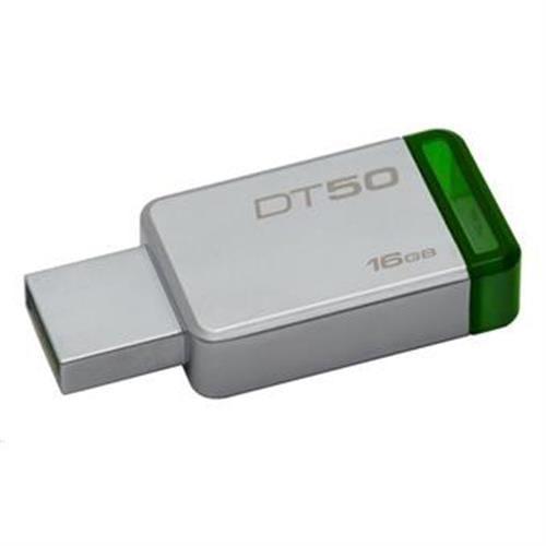 USB Kľúč 16GB Kingston USB 3.0 DT50 kovová zelená DT50/16GB