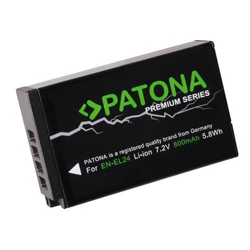 PATONA batéria pre foto Nikon EN-EL24 800mAh Li-Ion Premium PT1244