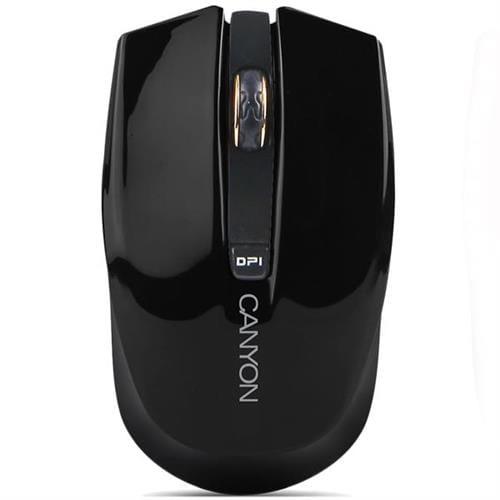 Myš Canyon CNS-CMSW5B, Wireless optická, USB, 800/1280 dpi, 4 tlač, Power Saving, čierna