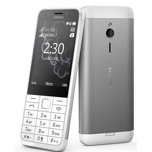 Nokia 230 Dual SIM White Silver A00026951