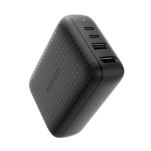 HyperDrive 60W USB-C Power Hub – GaN nabíjací adaptér a HDMI hub, čierna HY-HDNS-60-BLACK