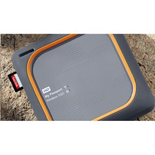 WD My Passport Wireless SSD 250GB Ext. USB3.0, SD Card, WDBAMJ2500AGY-EESN