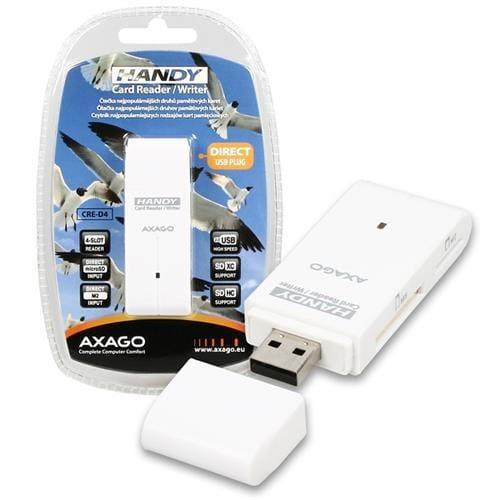 AXAGO externá HANDY čítačka 4-slot SD/TF/MS/M2 CRE-D4