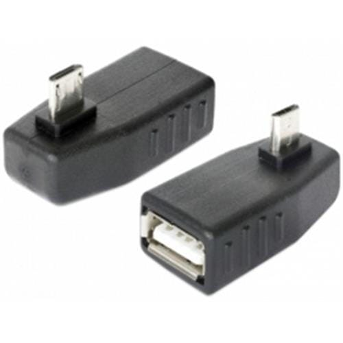 Delock adaptér USB micro-B samec > USB 2.0-A samica, OTG, pravoúhly 90° 65474