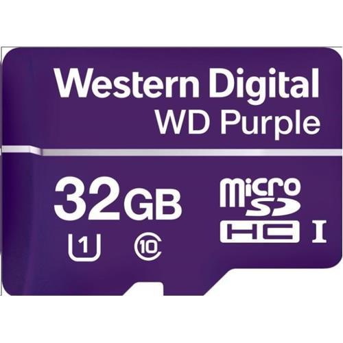WD Purple microSDHC 32GB Class 10 U1 WDD032G1P0C
