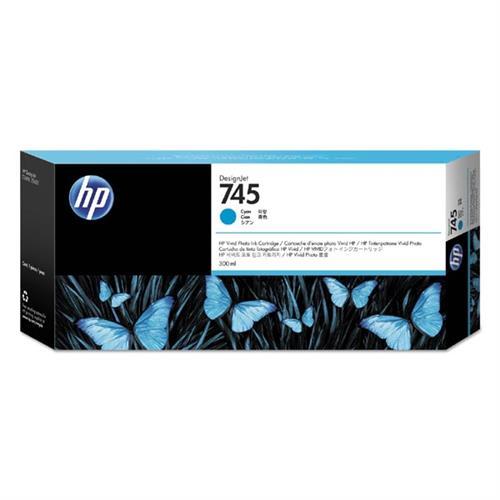 HP 745 300-ml Cyan Ink Cartridge F9K03A