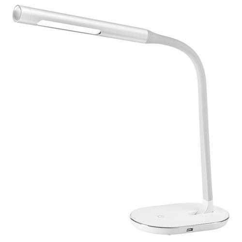 Solight LED stolná lampička stmievateľná, 8W, 4500K, USB, biela WO50-W