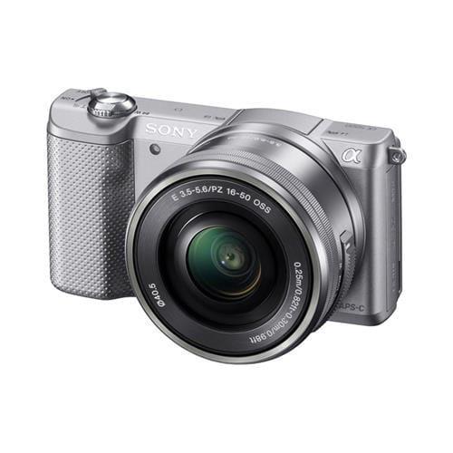 Sony A5000, 16-50mm, 20,1Mpix, bajonet E, strieborná ILCE5000LS.CEC