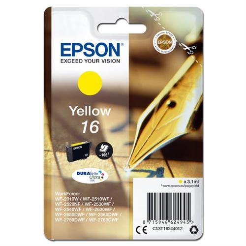 kazeta EPSON WF2520/2530/2540/2750 T162 Yellow 16 C13T162440