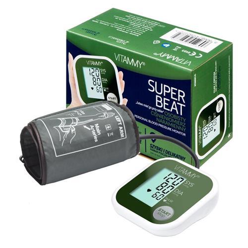 VITAMMY SUPER BEAT ramenný tlakomer, farba zelená 415870