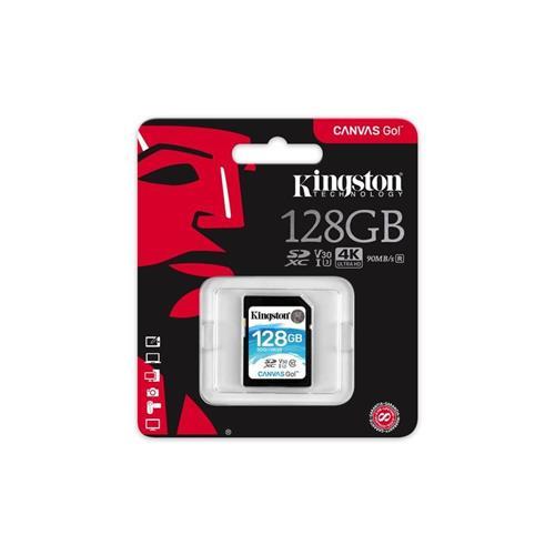 Kingston 128GB SDXC Canvas GO (90R/45W CL10 U3 V30) SDG/128GB