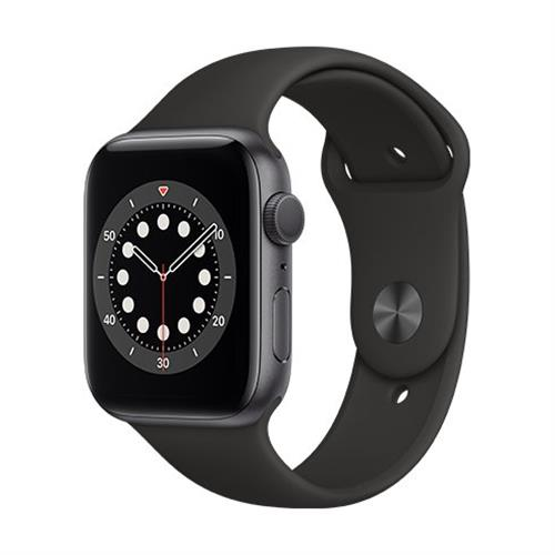 Apple Watch Series 6 GPS, 44mm Space Gray Aluminium Case with Black Sport Band - Regular M00H3VR/A
