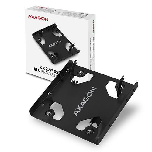 AXAGON RHD-225L, hliníkový rámček pre 2x 2.5'' HDD/SSD do 3.5'' pozície