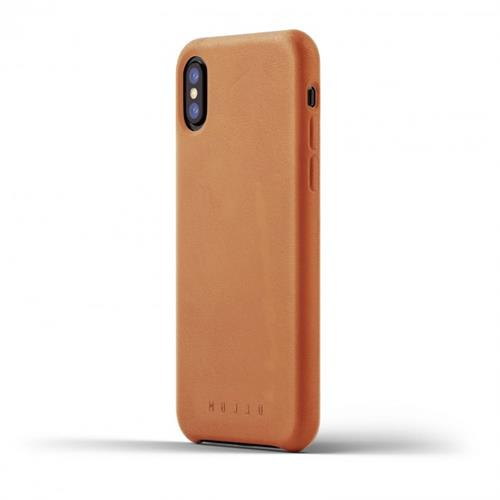 MUJJO Full Leather Case pre iPhone X - žltohnedý MUJJO-CS-095-TN