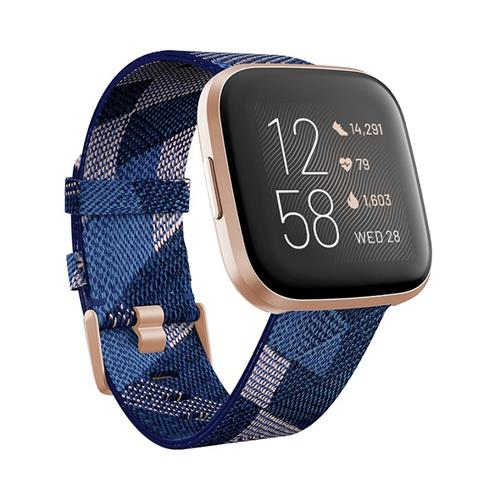 Fitbit Versa 2 Special Edition (NFC) - Navy & Pink Woven FB507RGNV
