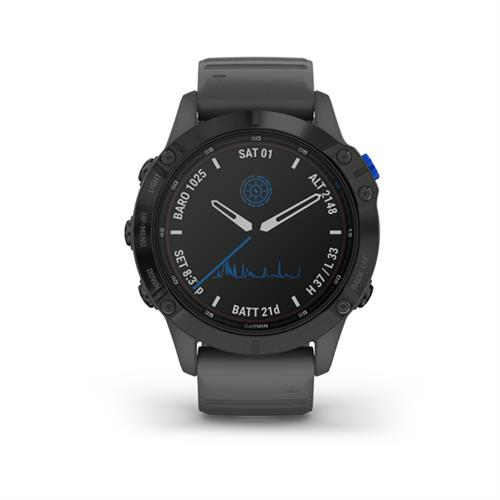Garmin fenix 6 Pro Solar, Black, Slate Gray Band 010-02410-11