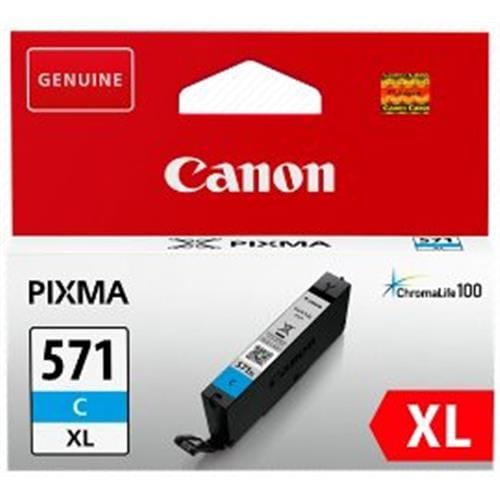 Kazeta CANON CLI-571C XL cyan MG 5750/5751/6850/6851/7750/7751 0332C001