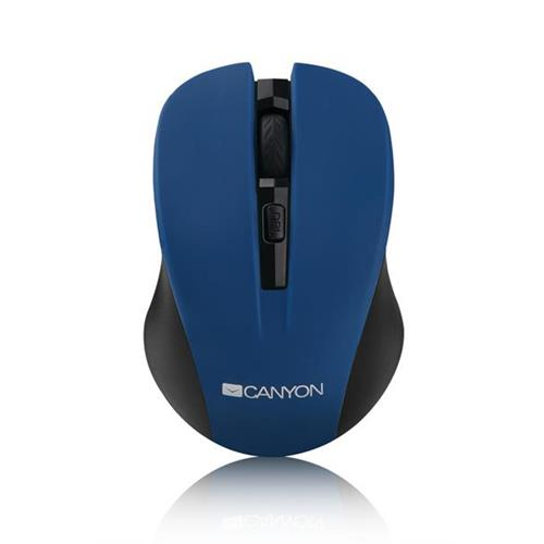Canyon CNE-CMSW1BL, Wireless optická myš USB, 800/1000/1200 dpi, modro-čierna