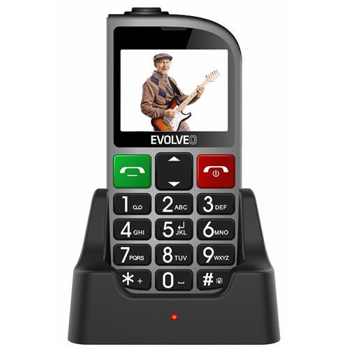 EVOLVEO EasyPhone FM, mobilný telefón pre seniorov, strieborný EP-800-FMS