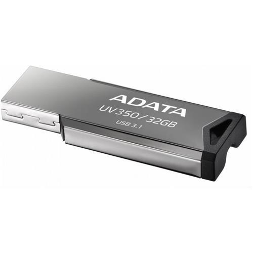 USB Kľúč 32GB ADATA UV350 USB 3.1 silver (vhodné pre potlač) AUV350-32G-RBK