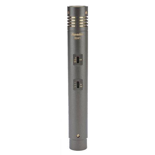 Mikrofón Superlux S241 kondenzátorový, zlatá membrána, prepínač 75/150Hz, odpružený držiak, pop filter