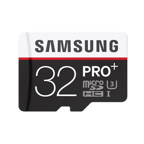 Samsung 32GB microSDHC PRO Plus + SD adaptér, 100MB/s MB-MD32GA/EU