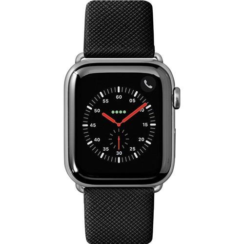 LAUT Prestige – Leather Watch Strap for Apple Watch 42/44 mm, Black LAUT-AWL-PRE-BK
