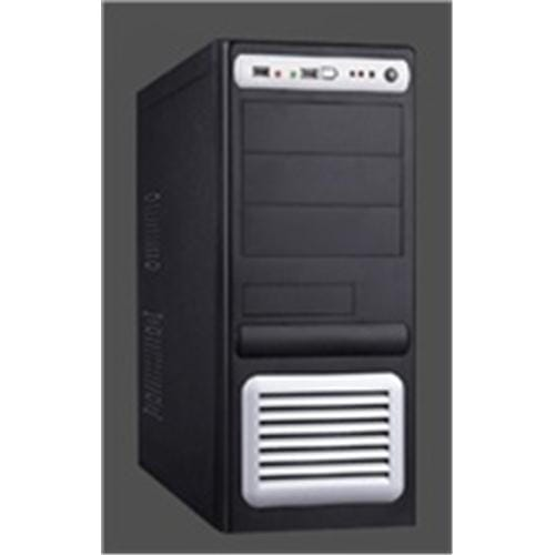 Skrinka EUROCASE ML5435 black,silver 2USB,2HDaudio EU bez ML5435BKSLEUbez