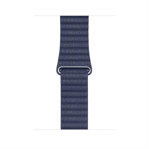 Apple 42MM Midnight Blue Leather Loop - Medium mlhl2zm/a