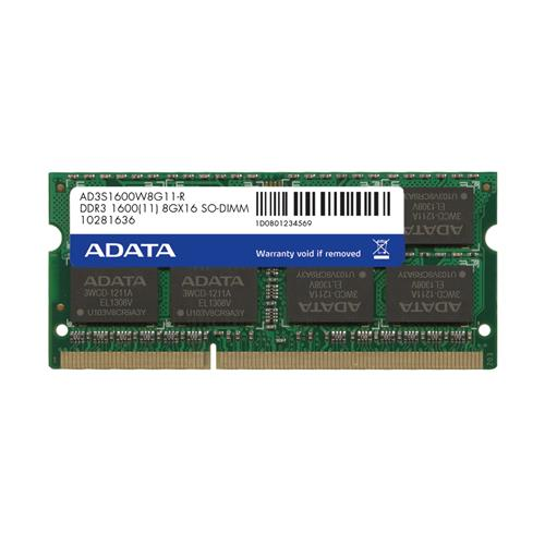SO-DIMM 8GB DDR3 1600MHz CL11 ADATA AD3S1600W8G11-R