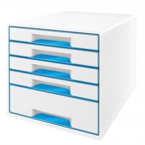 Zásuvkový box Leitz WOW metalický modrý ES521436