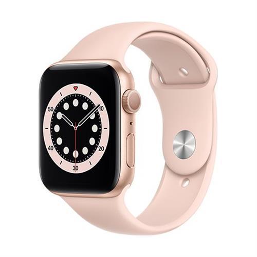 Apple Watch Series 6 GPS, 44mm Gold Aluminium Case with Pink Sand Sport Band - Regular M00E3VR/A