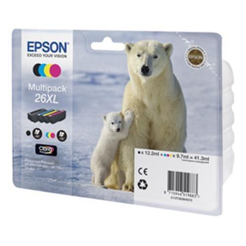 Kazeta EPSON XP-600/700 T2616 Multipack CMYK 26XL Claria C13T26364010