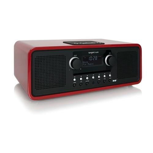 Rádio Tangent ALIO stereo CD/DAB+ s iPod/iPhone dokovacou stanicou červené 21025