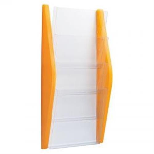 Prezentačný stojan Helit 4xA4 oranžový HE627014