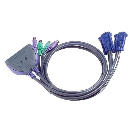 ATEN KVM switch CS-62Z PS/2 2PC mini vč. kabeláže