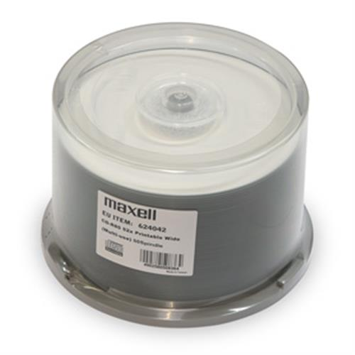 CD-R MAXELL Printable 700MB 52X 50ks/spindel 624042/624006.40.CN