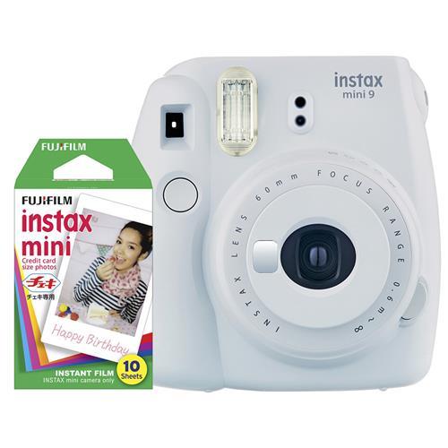 Fujifilm Instax Mini 9 smo white + 10ks film 70100141202