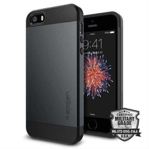 Spigen kryt Slim Armor S pre iPhone SE - Metal Slate 041CS20174