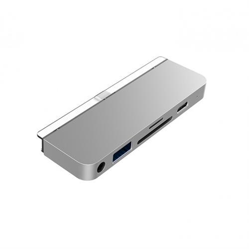 HyperDrive 6-in-1 USB-C Hub pre iPad Pro – Strieborný HY-HD319-SILVER