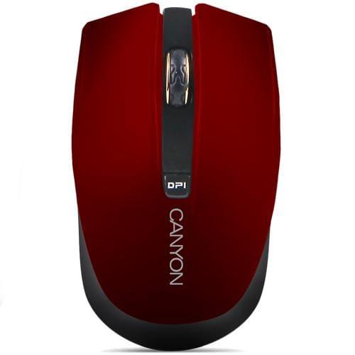 Myš Canyon CNS-CMSW5R, Wireless optická, USB, 800/1280 dpi, 4 tlač, Power Saving, červená