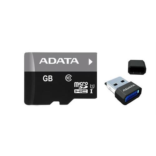 ADATA 16GB microSDHC UHS-I Class 10 + USB čítačka v3, Premier AUSDH16GUICL10-RM3BKBL