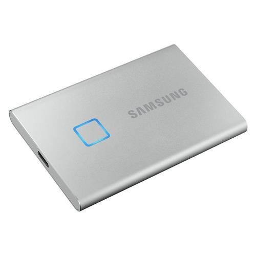Samsung externý SSD disk T7 touch - 500 GB - strieborný MU-PC500S/WW