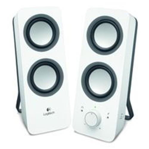Reproduktory Logitech Z200 Multimedia Speaker 2.0, 6W, biele 980-000811