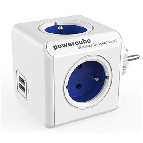 Zásuvka PowerCube ORIGINAL USB, Blue, 4 rozbočka, 2x USB 423653