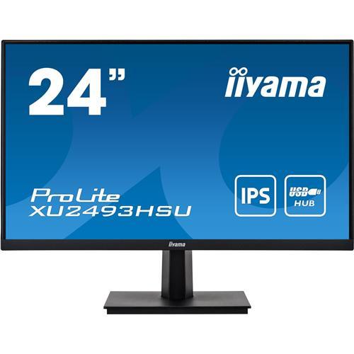 24'' iiyama XU2493HSU-B1: IPS, FullHD@75Hz, 250cd/m2, 4ms, VGA, HDMi, DP, USB, čierny